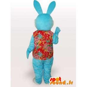 Grappige blauwe konijn mascotte - grappige dieren kostuum - MASFR00928 - Mascot konijnen