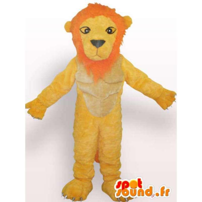 Ontevreden leeuw mascotte - leeuwkostuum teddy - MASFR00955 - Lion Mascottes