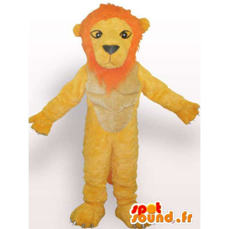 Tyytymätön leijona maskotti - leijona puku teddy - MASFR00955 - Lion Maskotteja
