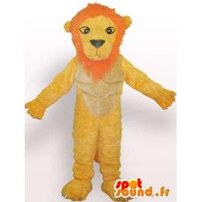 不機嫌そうなライオンのマスコット - ライオン着ぐるみテディベア - MASFR00955 - ライオンマスコット
