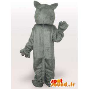 Maskotka ostrą białego wilka - wilk jakości kostium - MASFR00951 - wilk Maskotki