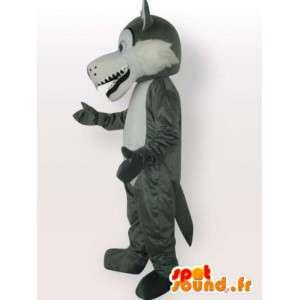 ウルフマスコットの雪 - 灰色オオカミのコスチューム
