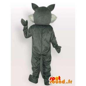 Neve lupo mascotte - Disguise lupo grigio - MASFR00976 - Mascotte lupo