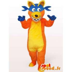 Wolf-Maskottchen Jester - Kostüm Plüsch