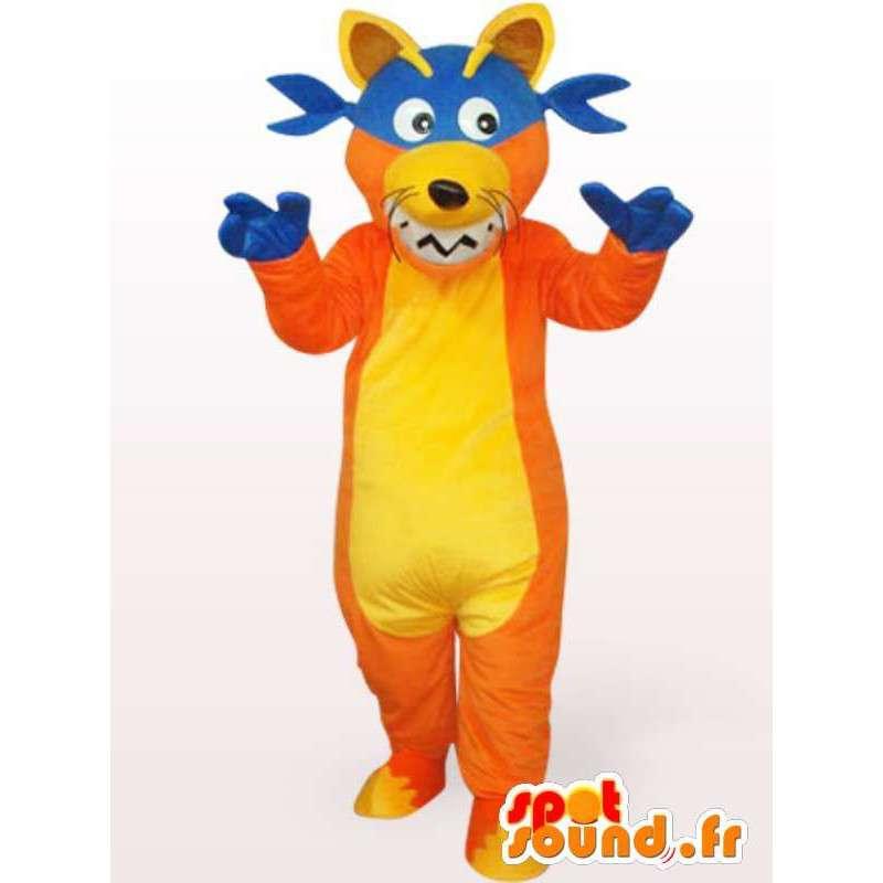 Wolf-Maskottchen Jester - Kostüm Plüsch - MASFR001154 - Maskottchen-Wolf