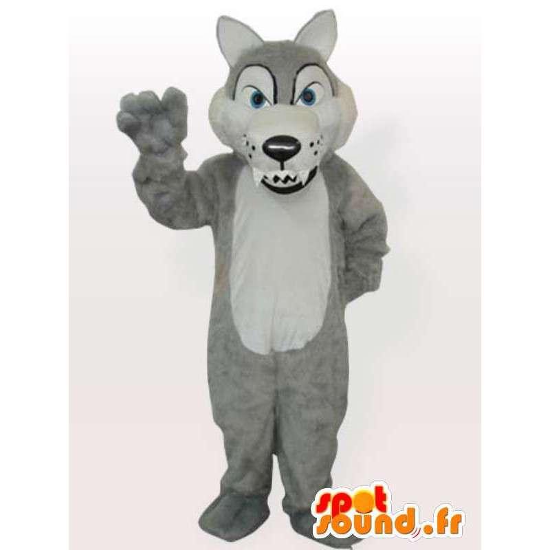 Mascot sluw wolf - een woeste dier vermomming - MASFR001157 - Wolf Mascottes