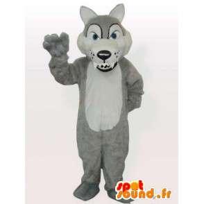 Mazaný vlk maskot - divoký zvíře převlek - MASFR001157 - vlk Maskoti