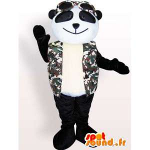 Panda maskot med tilbehør - plys panda kostume - Spotsound