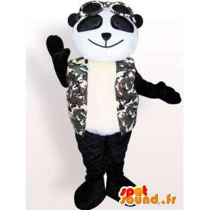 Pandamaskot med tillbehör - plyschpandadräkt - Spotsound maskot