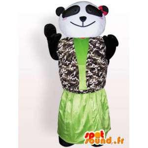 Panda maskot i kjole - tilpasset kostume - Spotsound maskot