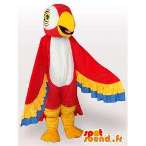 Papegøje maskot med farverige vinger - Papegøje kostume -