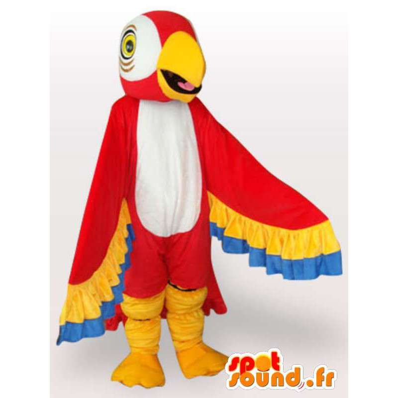 Παπαγάλος μασκότ με πολύχρωμα φτερά - παπαγάλος κοστούμι - MASFR001073 - μασκότ παπαγάλοι