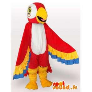 Parrot Mascot med fargerike vinger - papegøye drakt - MASFR001073 - Maskoter papegøyer