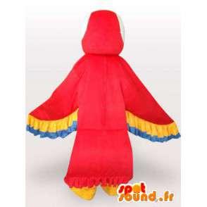 Parrot Maskot s barevnými křídly - Papoušek kostým - MASFR001073 - Maskoti papoušci