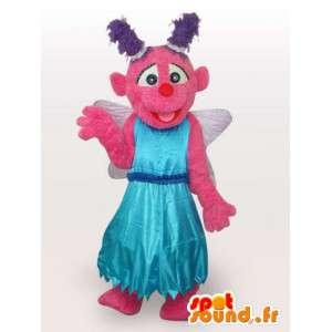 Imaginární postava maskota - kostým oblečený tkaninou