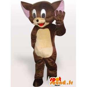 Jerry brun mus maskot - Lille gnaver kostume - Spotsound maskot