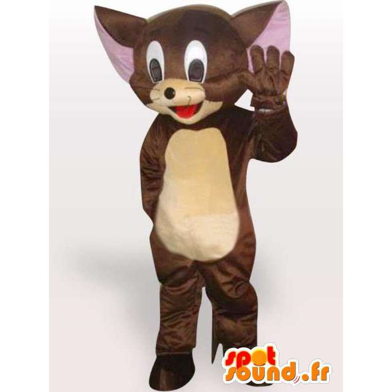 Brown mouse Jerry Mascot - Costume small rodent - MASFR001133 - Mouse mascot