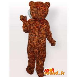 Tiikeri maskotti - kissa puku - MASFR00972 - Tiger Maskotteja