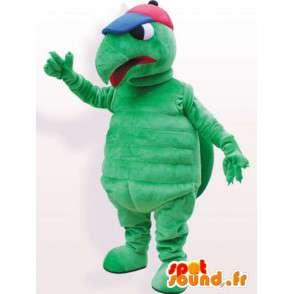 Skilpadde maskot med hat - Kvalitet Costume - MASFR001060 - Turtle Maskoter