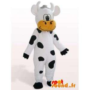 Αγελάδα μασκότ αστείο - ζώων αγροκτήματος μεταμφίεση - MASFR001132 - Μασκότ αγελάδα