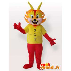 Mascot met rode mier overhemd - Disguise mier