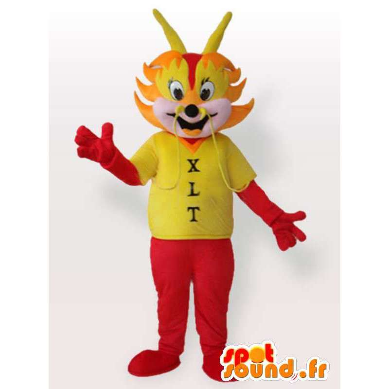 Mascotte fourmi rouge avec tee-shirt - Déguisement fourmi - MASFR00959 - Mascottes Fourmi
