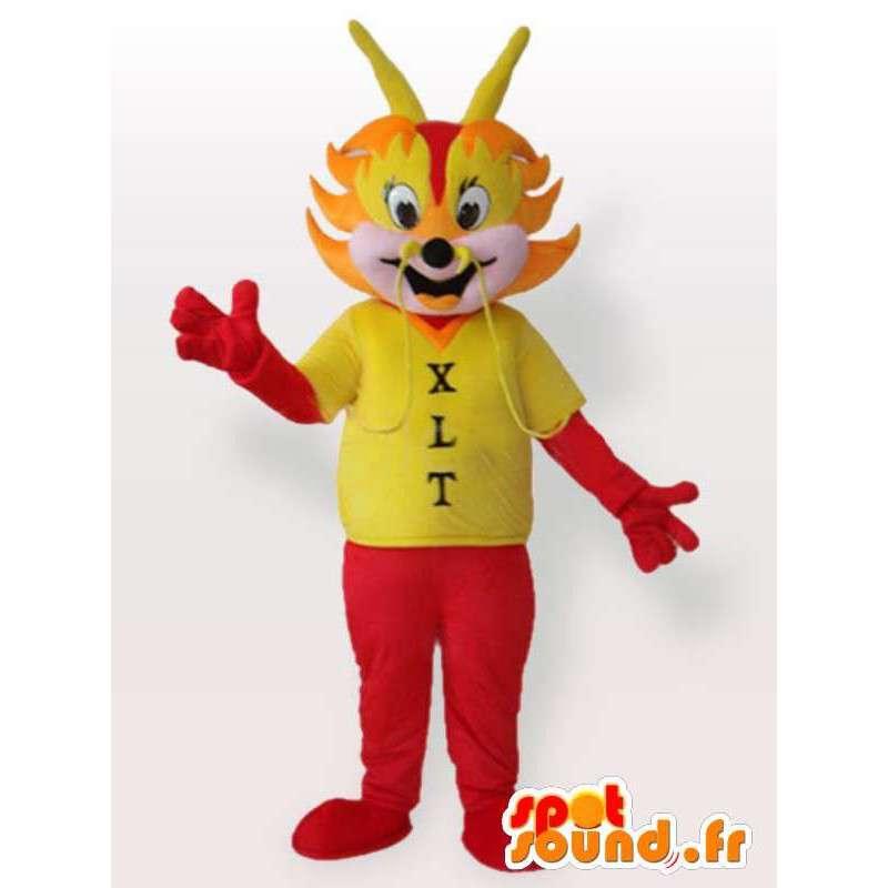 Rote Ameise Maskottchen mit T-Shirt - Disguise Ameise - MASFR00959 - Maskottchen Ameise