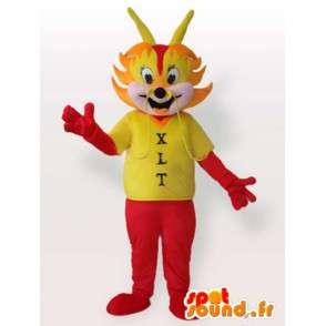 Mascota de la hormiga roja con la camiseta - hormiga Disguise - MASFR00959 - Mascotas Ant