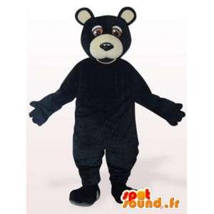 Maskot grizzly černá - černá grizzly převlek