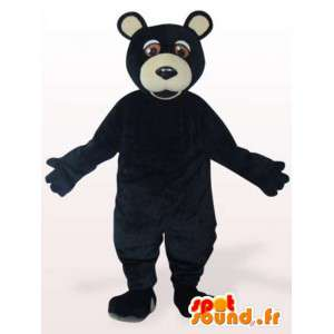 Schwarz Grizzly Maskottchen - schwarz Verkleidung Grizzly
