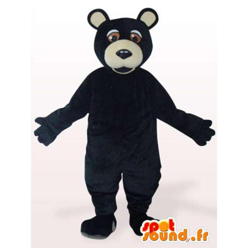 Maskotti harmaakarhu musta - musta harmaakarhu Disguise - MASFR001160 - Mascottes animaux disparus