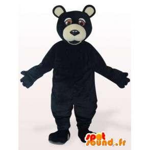 Schwarz Grizzly Maskottchen - schwarz Verkleidung Grizzly - MASFR001160 - Fehlende tierische Maskottchen