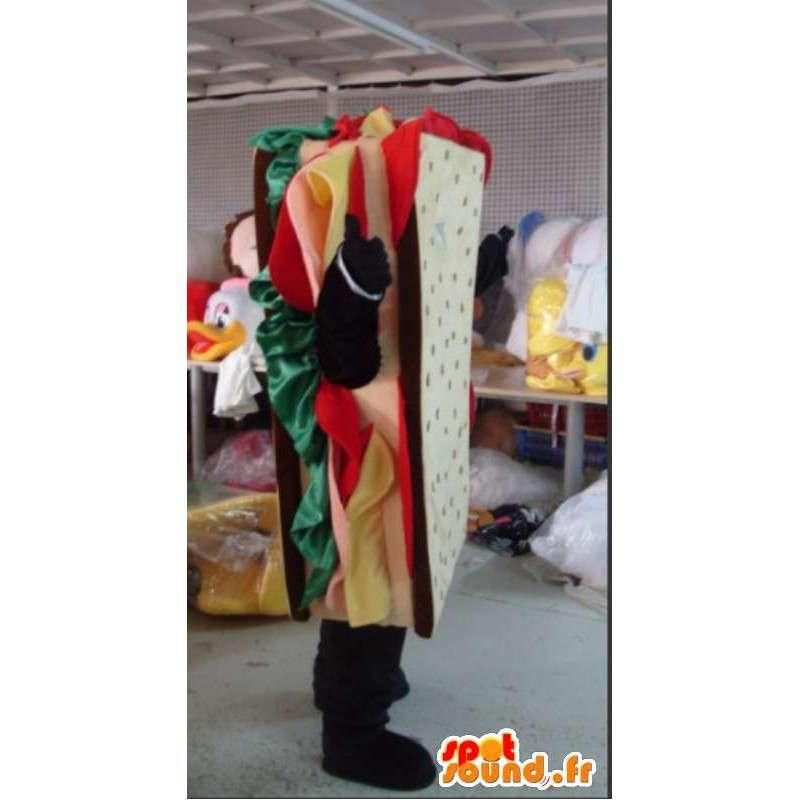 Mascot ihmisen mainostaulu - laatu sandwich Disguise - MASFR001085 - Mascottes Homme