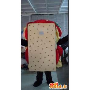 Mascot man sandwich - sandwich Disguise quality - MASFR001085 - Human mascots