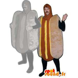 Mascotte hot dog - Déguisement hot dog