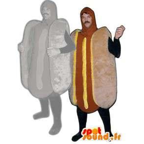 Maskot párek v rohlíku - hot dog kostým - MASFR001115 - Fast Food Maskoti