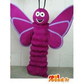 Maskot lilla sommerfugl larve - insekt kostyme skogen - MASFR00278 - Maskoter Butterfly