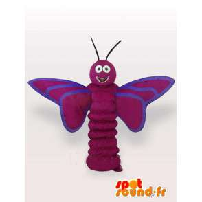 Viola larva Mascot farfalla - insetto foresta Costume - MASFR00278 - Mascotte farfalla