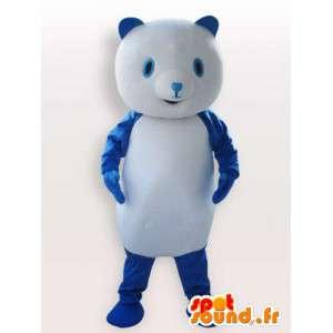 Mascote urso azul - azul traje animal
