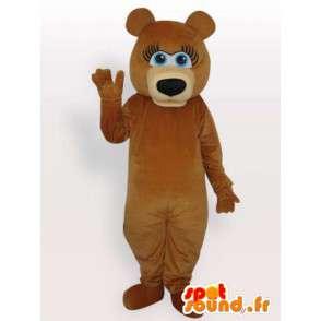 Teddy bear mascot - Disguise the female bear - MASFR001135 - Bear mascot