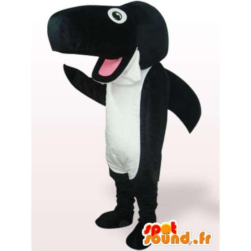 Δολοφόνος φάλαινα μασκότ βελούδου - Λούτρινα Κοστούμια - MASFR001088 - μασκότ αντικείμενα