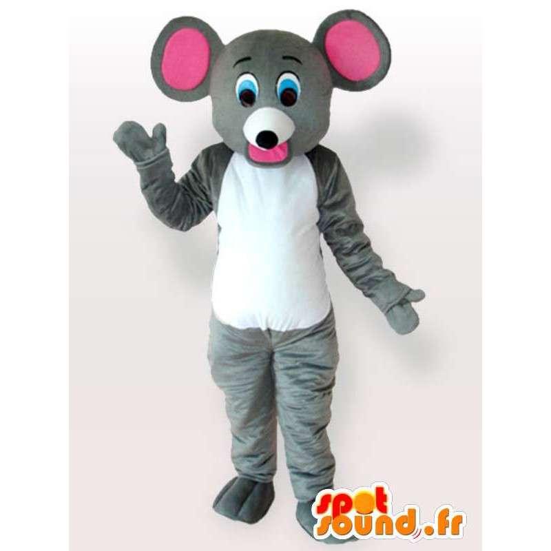 Mascotte souris rigolote - Déguisement souris de grande qualité - MASFR00958 - Mascotte de souris