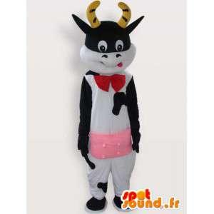 Αγελάδα μασκότ με αξεσουάρ - κοστούμι βελούδου αγελάδα