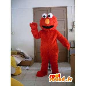 Mascote de pelúcia Elmo - traje vermelho