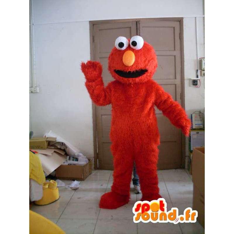 Plysj maskot Elmo - rød drakt - MASFR001193 - Maskoter en Sesame Street Elmo