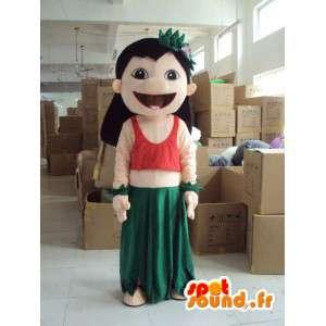 服を着た女性のキャラクターコスチューム-すべてのサイズを偽装-MASFR001194-女性のマスコット