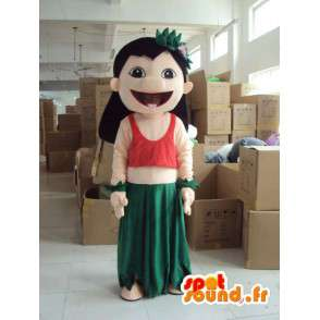 Costume personnage de femme habillée - Déguisement toutes tailles - MASFR001194 - Mascottes Femme