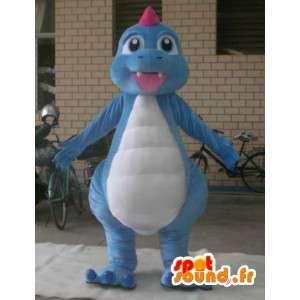 Plush dragon costume - Costume blue - MASFR001196 - Dragon mascot