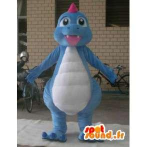 Costume de dragon en peluche - Déguisement de couleur bleu - MASFR001196 - Mascotte de dragon