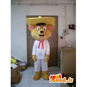 Mascot mexicana mouse - traje com acessórios - MASFR001199 - rato Mascot